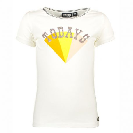 Like Flo Ruffle Tee Divers Off White