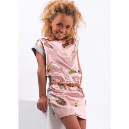 Like Flo Satin Feather Dress