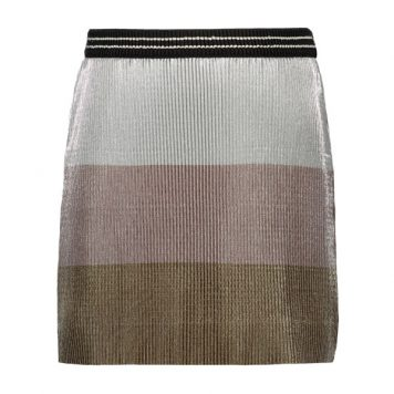Like Flo Skirt Metallic Plisse