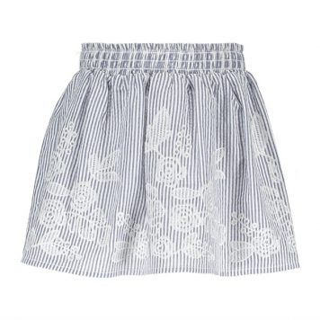 Like Flo Skirt Seersucker Anglaise