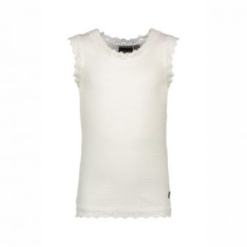 Like Flo Slub Singlet Off White