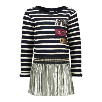Like Flo Striped Sweat Dress
