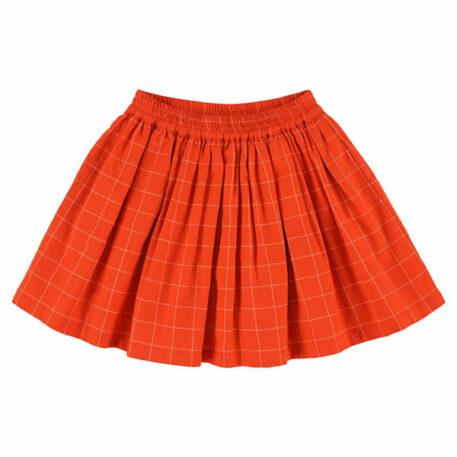 Lily Balou Adele Skirt Grid Orange