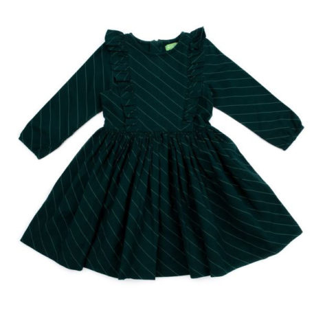 Lily Balou Coco Dress Flanel Diagonal Green