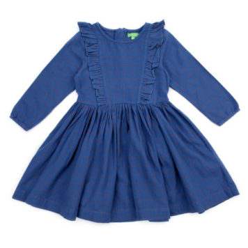 Lily Balou Coco Dress Flanel Grid Blue
