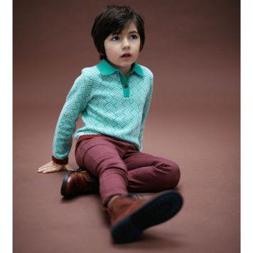 Lily Balou Damian Polo Knit Sage Green