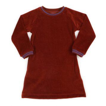 Lily Balou Dress Edith Velours Brick
