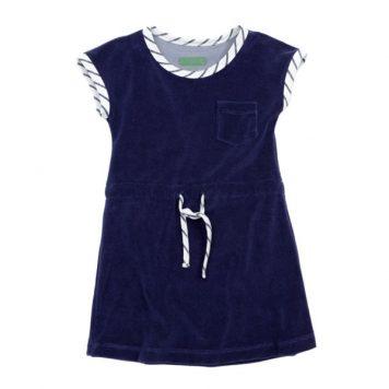 Lily Balou Dress Feline Terry Gentian Blue
