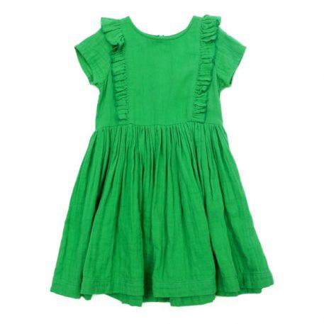 Lily Balou Dress Jacqueline Dress Muslin Grass Green