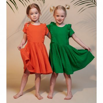 Lily Balou Dress Jacqueline Dress Muslin Red Orange