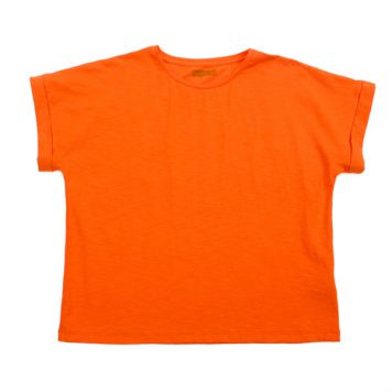 Lily Balou Fenna T-shirt Slub Jersey Red Orange