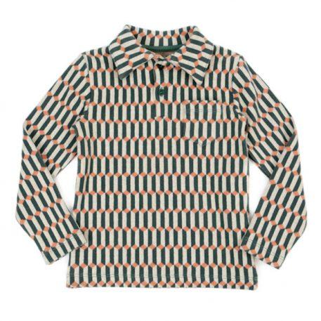Lily Balou Jack Polo Shirt Jacquard Blocks Green