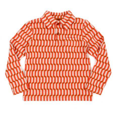 Lily Balou Jack Polo Shirt Jacquard Blocks Red