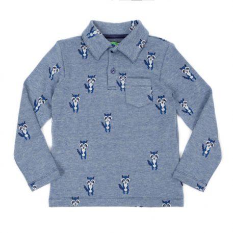 Lily Balou Jack Polo Shirt Jacquard Raccoons