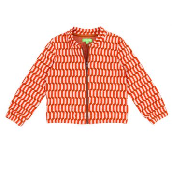 Lily Balou Jools Bomber Jacquard Blocks Red