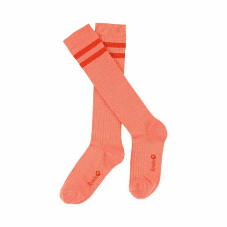 Lily Balou Jordan Knee Socks Striped Papaya Punch