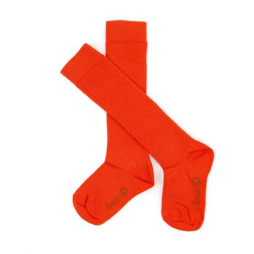 Lily Balou Jordan Knee Socks Tangerine Red