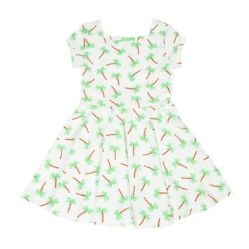 Lily Balou Kiki Dress Palm Trees