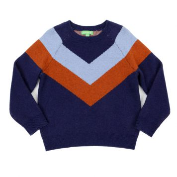 Lily Balou Livia Colourblock sweater Dark Blue
