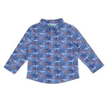 Lily Balou Lucas Shirt Wolves Blue