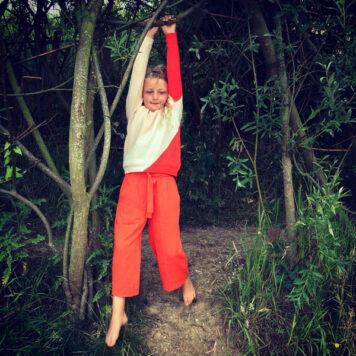 Lily Balou Luda Colourblock Jumper Creole Pink