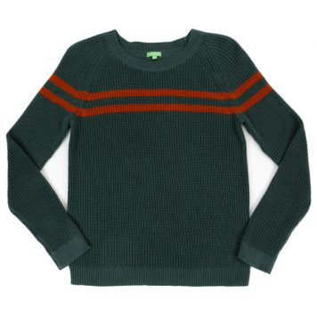 Lily Balou Otis Striped Sweater Dark Green