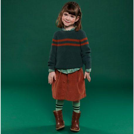 Lily Balou Otis Striped Sweater Dark Green