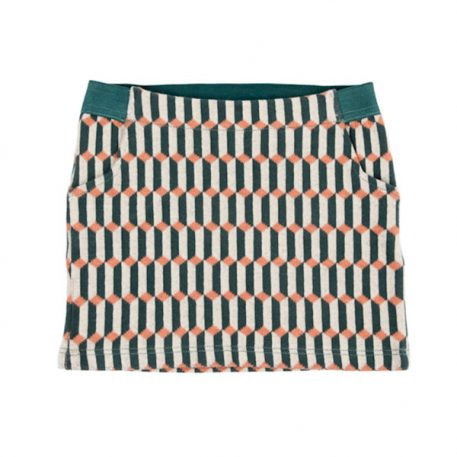 Lily Balou Pippa Short Skirt Blocks Green