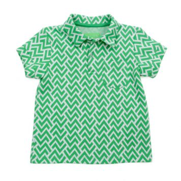 Lily Balou Polo James Jacquard Zigzag