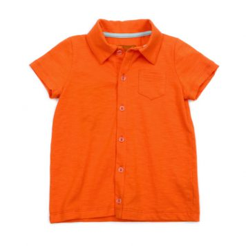 Lily Balou Shirt Jonathan Slub Jersey Red Orange