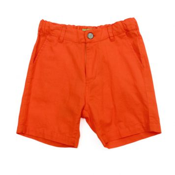 Lily Balou Shorts Astor Coton Twill Red Orange