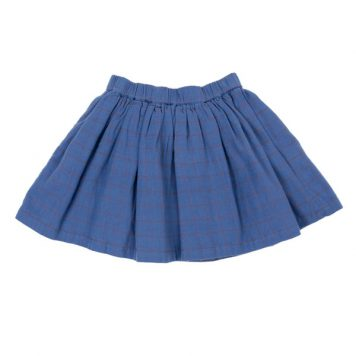 Lily Balou Skirt Adele Flanel Grid Blue