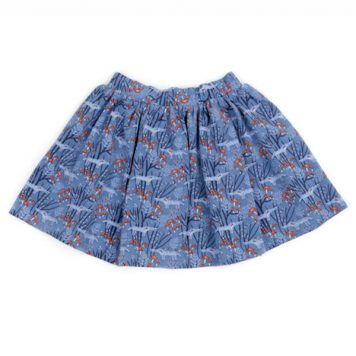 Lily Balou Skirt Isadora Wolves Blue