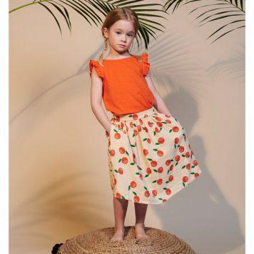 Lily Balou Skirt Uma Muslin Clementines