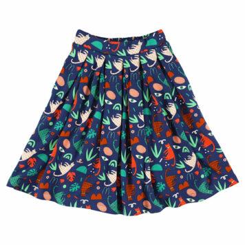 Lily Balou Soho Midi Skirt Groovy Cats