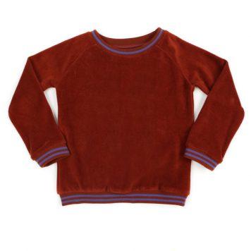 Lily Balou Sweater Jacky Velours Brick