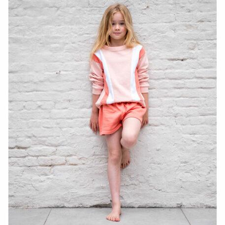 Lily Balou Sweater Jake Colourblock Creole Pink