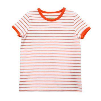 Lily Balou T-shirt Billie Striped Red Orange
