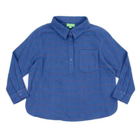 Lily Balou Thor Shirt Flanel Grid Blue