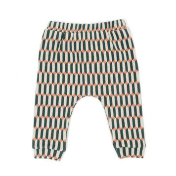 Lily Balou Tommy Baby Trousers Blocks Green