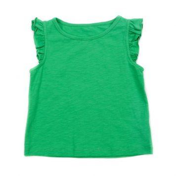 Lily Balou Top Eline Slub Jersey Grass Green