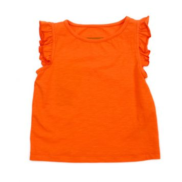 Lily Balou Top Eline Slub Jersey Red Orange