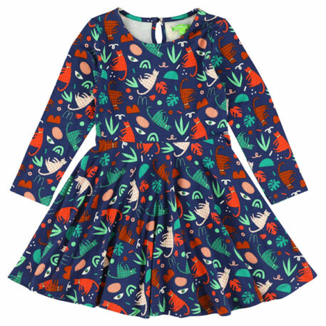 Lily Balou Trissia Circle Dress Groovy Cats