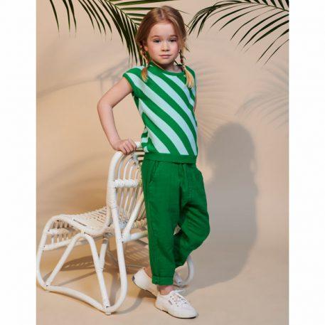 Lily Balou Trousers Nikki Muslin Grass Green
