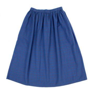 Lily Balou Uma Skirt Grid Blue