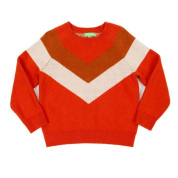 Lily Balou Woman Livia Sweater Tangerine Red
