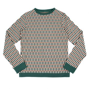 Lily Balou Woman Mika Sweatshirt Blocks Green