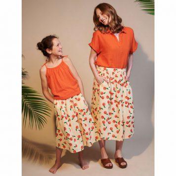 Lily Balou Woman Uma Skirt Muslin Clementines