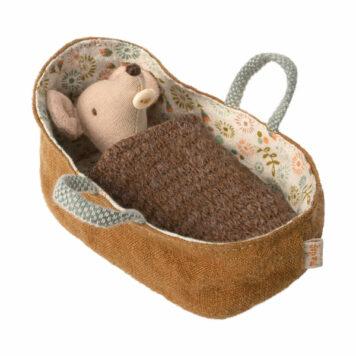 Maileg Baby Muis in Reiswiegje