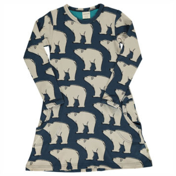 Maxomorra Dress Polar Bear